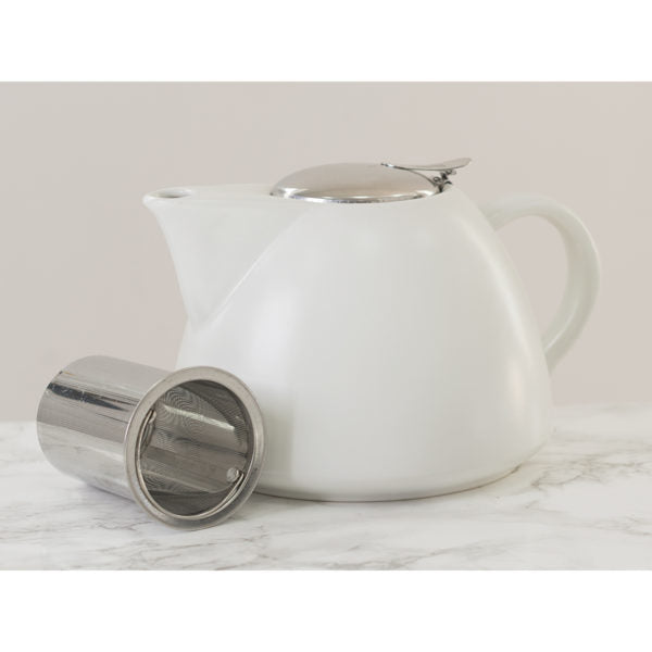 White Barcelona Tea Pot 1300ml