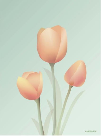 Mint Tulip Poster