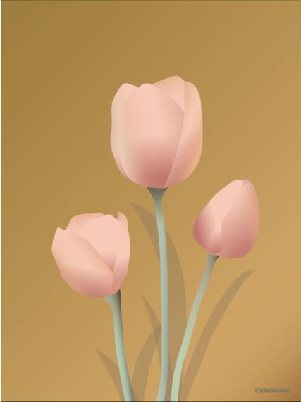 Amber Tulip Poster