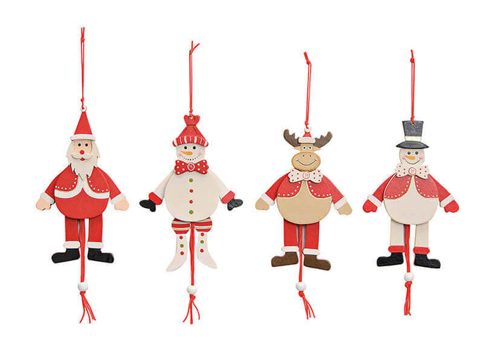 Christmas Jumping Jack Figures