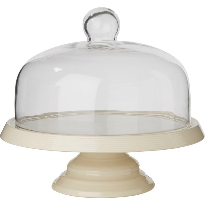 Ceramic Cake Stand with Glass Dome
