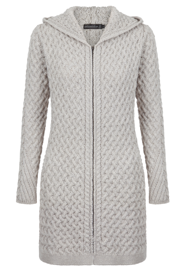 Coolquay Trellis Hooded Coat - Natural