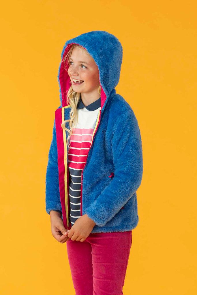 Lighthouse Gracie Girls Sherpa Fleece - Cornflower