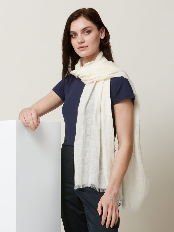 Linen Natural Scarf