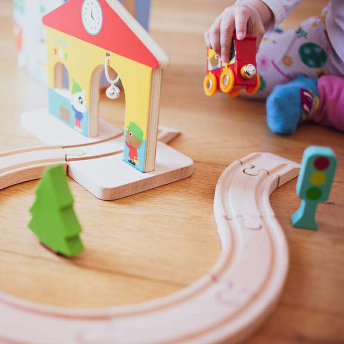 Wooden Mini Train Set