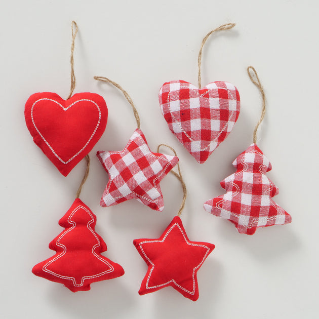 Decorative Red Pendants- Heart/Star/Tree