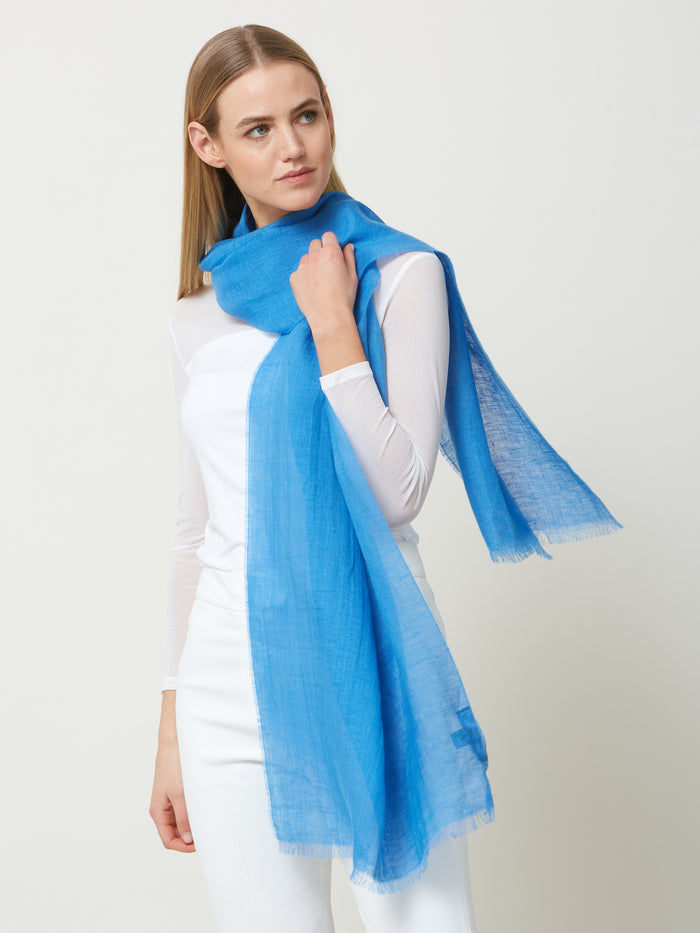 Linen Denim Scarf