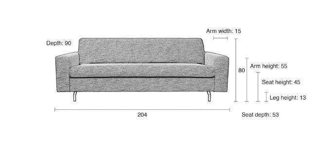 2.5 Jean Seater Sofa - Latte