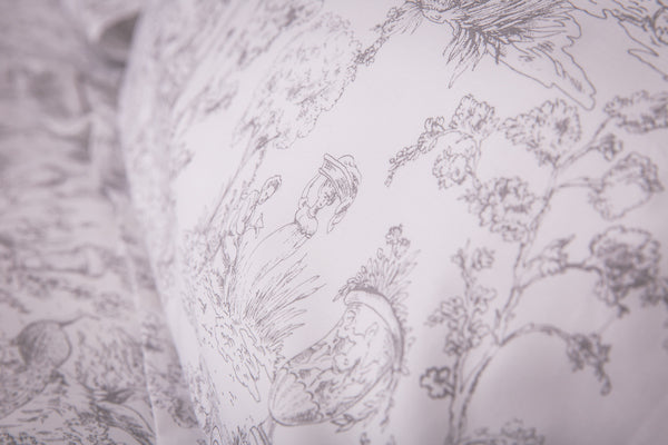Silver Toile Oxford Pillowcase - Pair