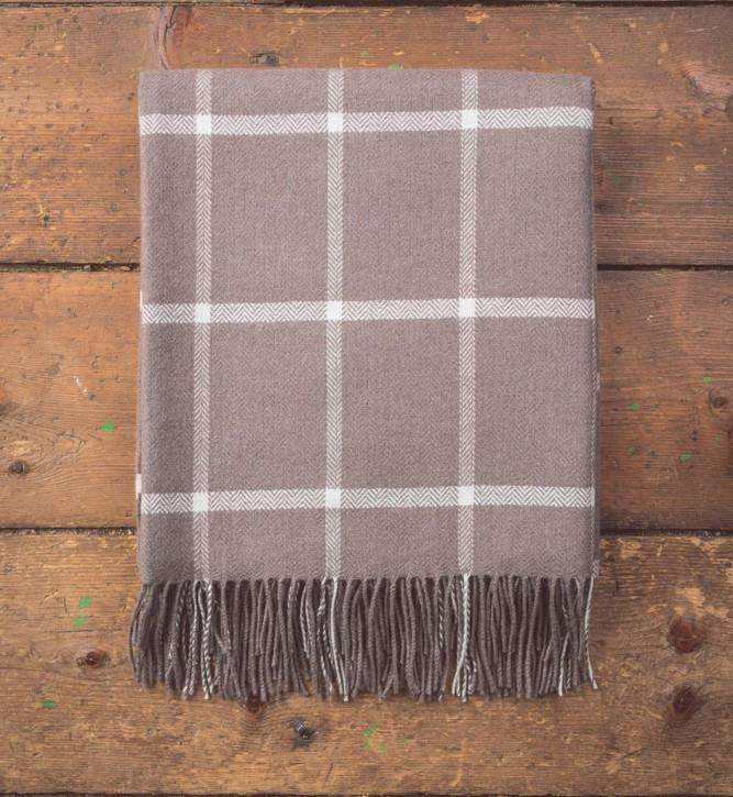 Mink & Lychen Windowpane Throw