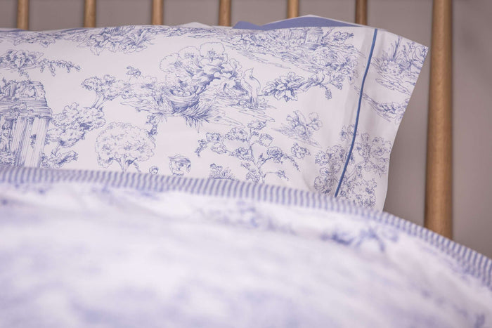 Blue Toile Oxford Pillowcase - Pair
