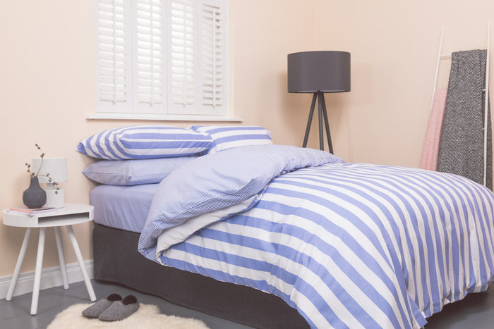 5cm Blue Stripe Duvet Cover