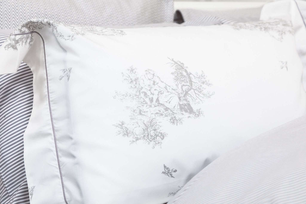 Silver Toile Oxford Pillowcase