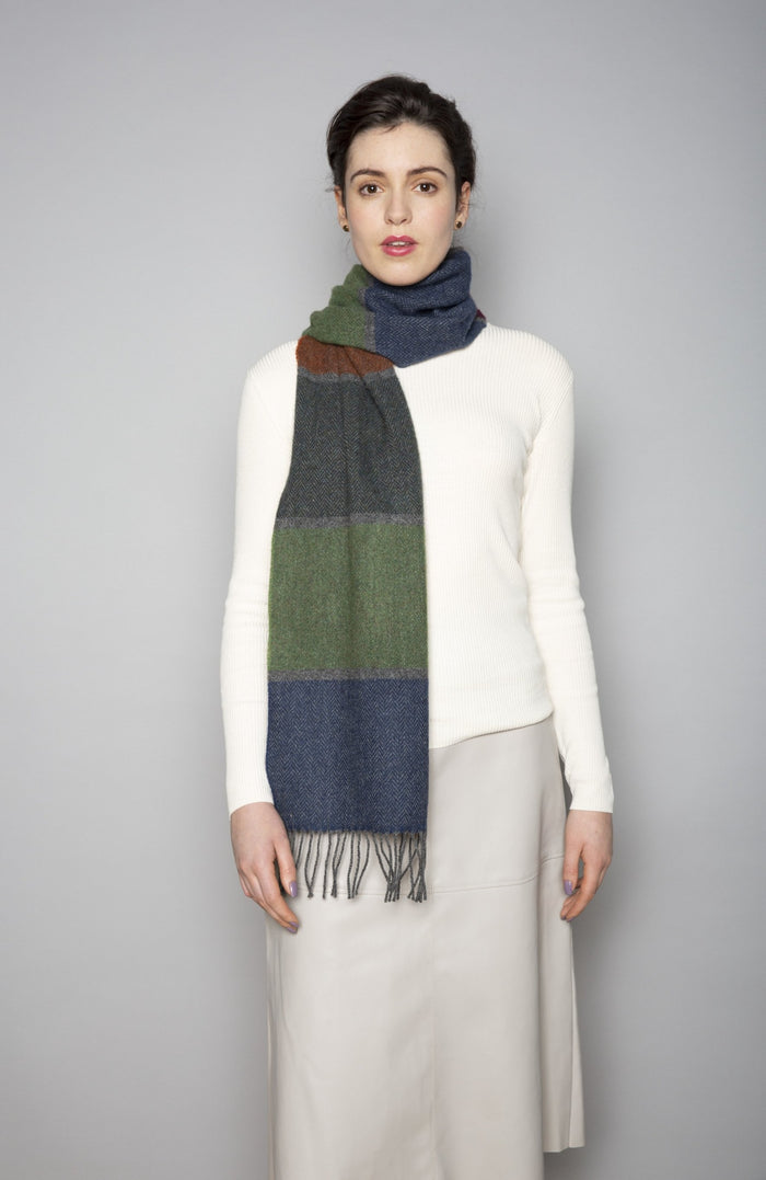 Heritage Stripe Lambswool Scarf