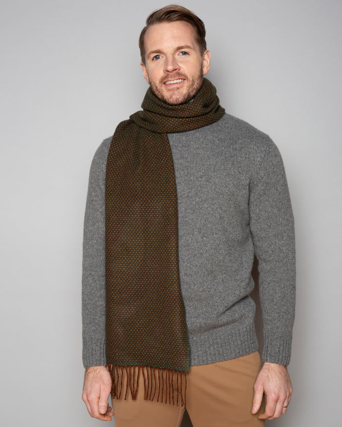 Studio Birdseye Partridge Brown Lambswool Scarf
