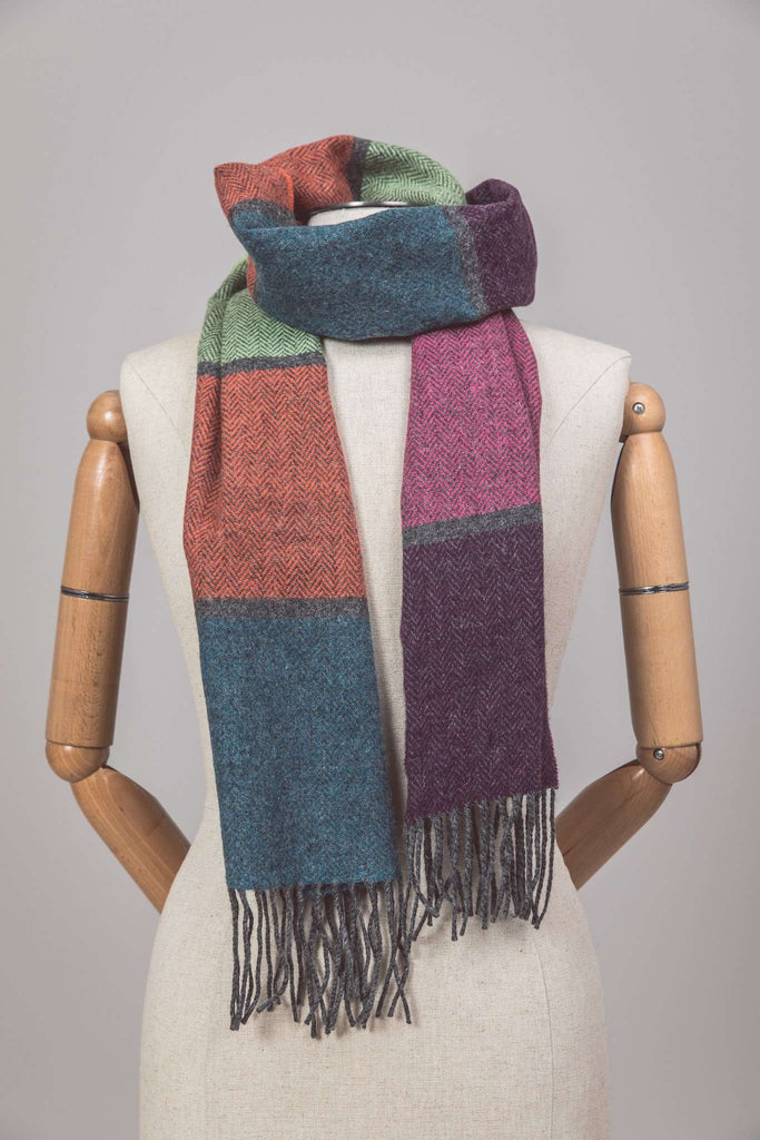 Mannequin wearing Foxford's Contemporary Stripe Scarf