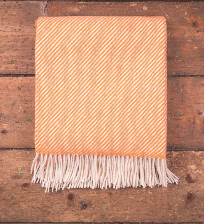 Orange & White Stripe Throw