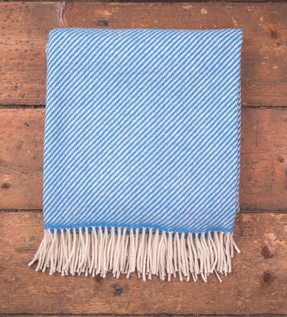 Blue & White Stripe Throw