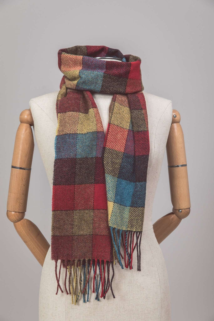 Harvest Block Check Scarf