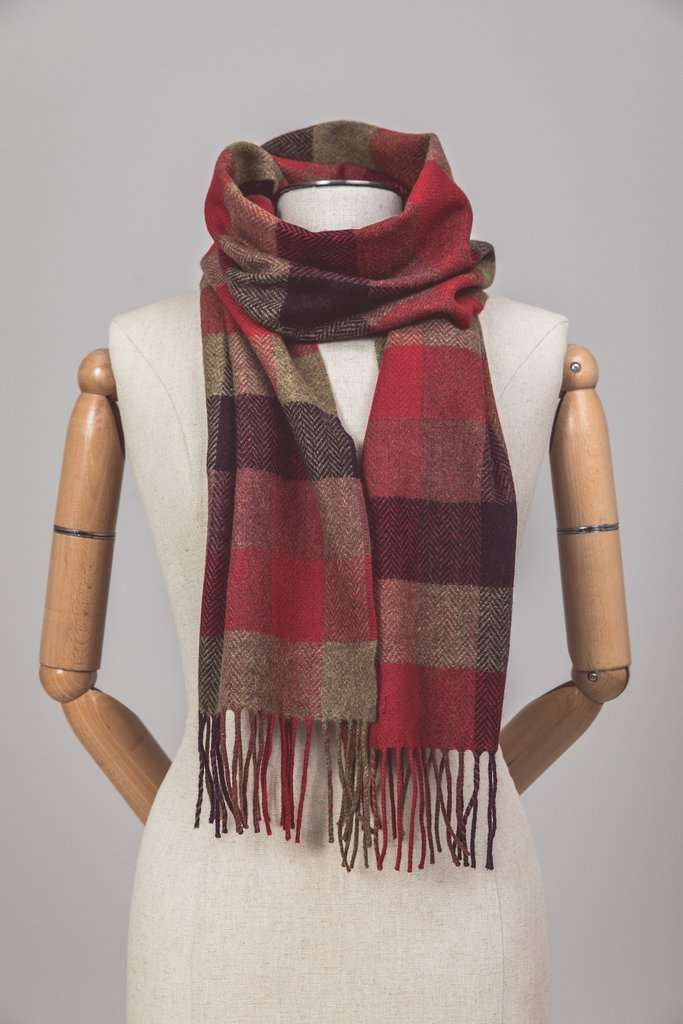 Country Block Check Scarf
