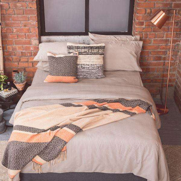 Black Ticking Duvet Cover