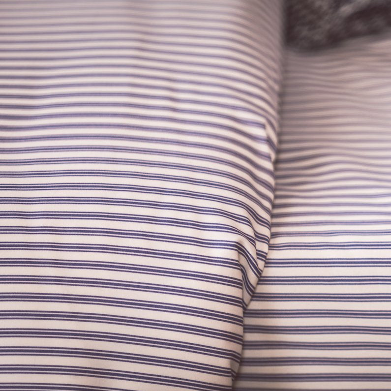 Vintage Blue Ticking Duvet Cover