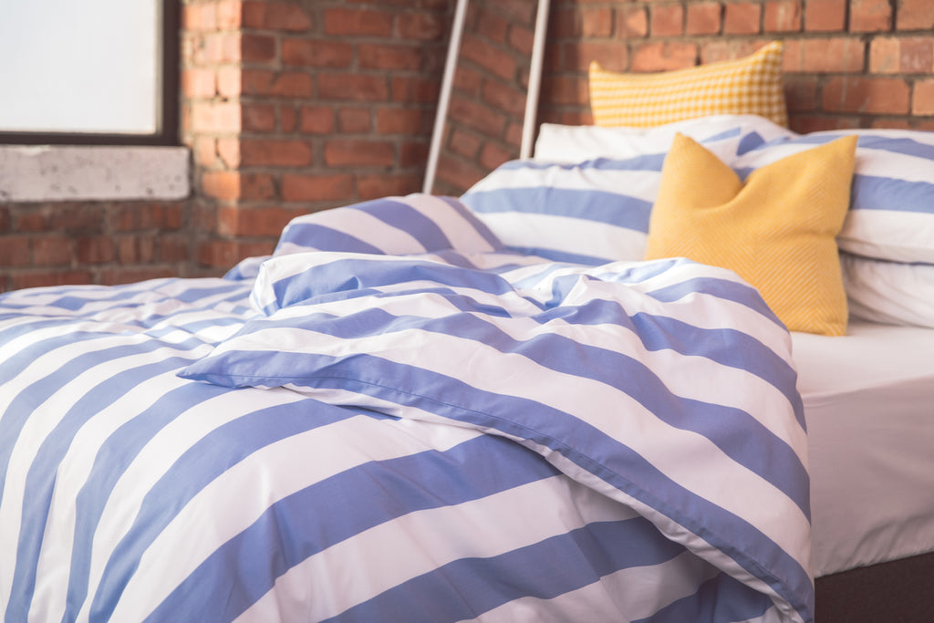 7cm Blue Stripe Duvet Cover