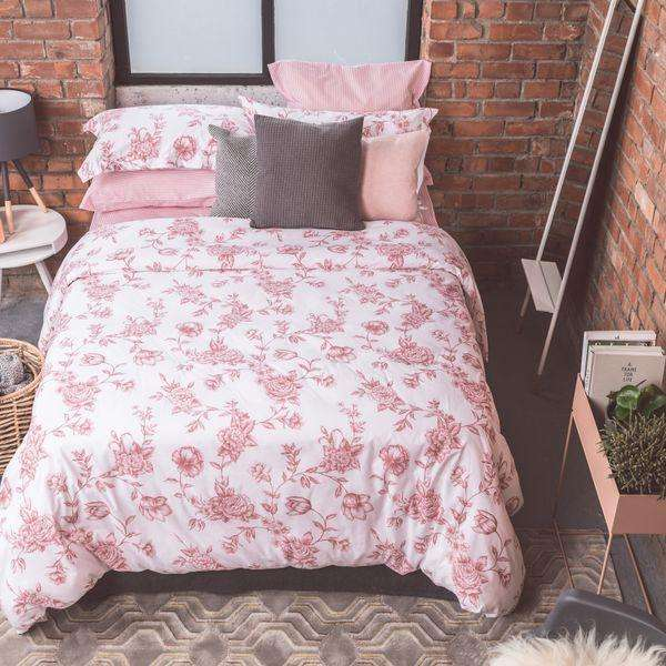 New Pink Rose Duvet Cover