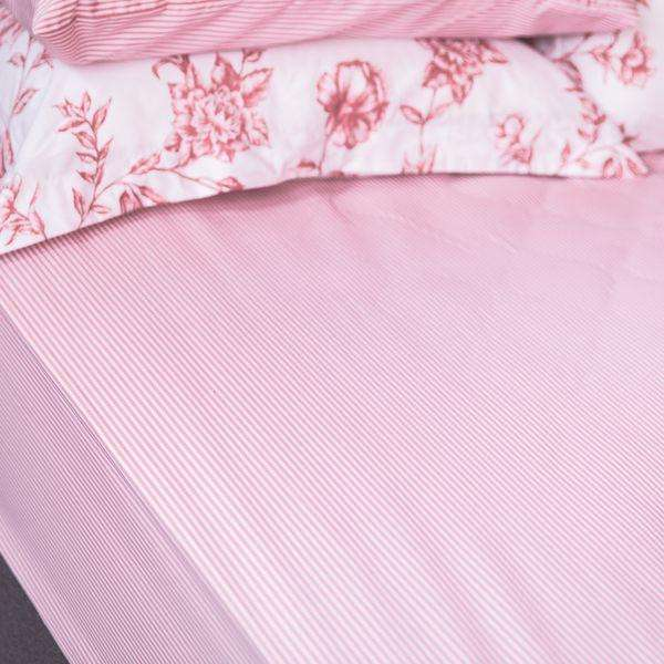New Pink Ticking Fitted Sheet