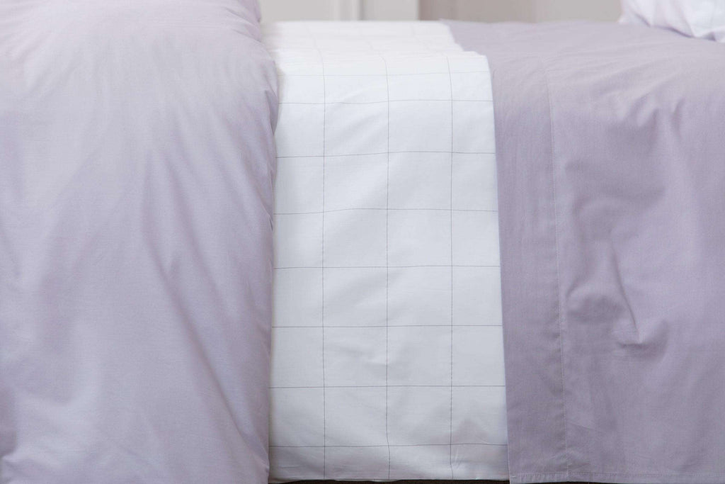 Misty Lilac Plain Dye Fitted Sheet