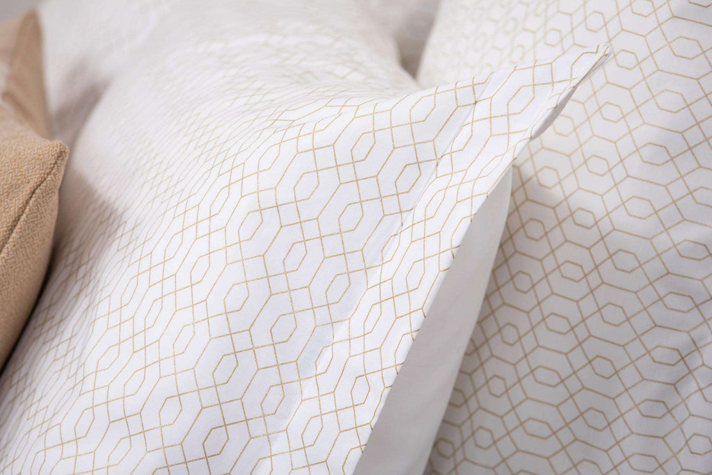 Metallic Geometric Oxford Pillowcase Pair
