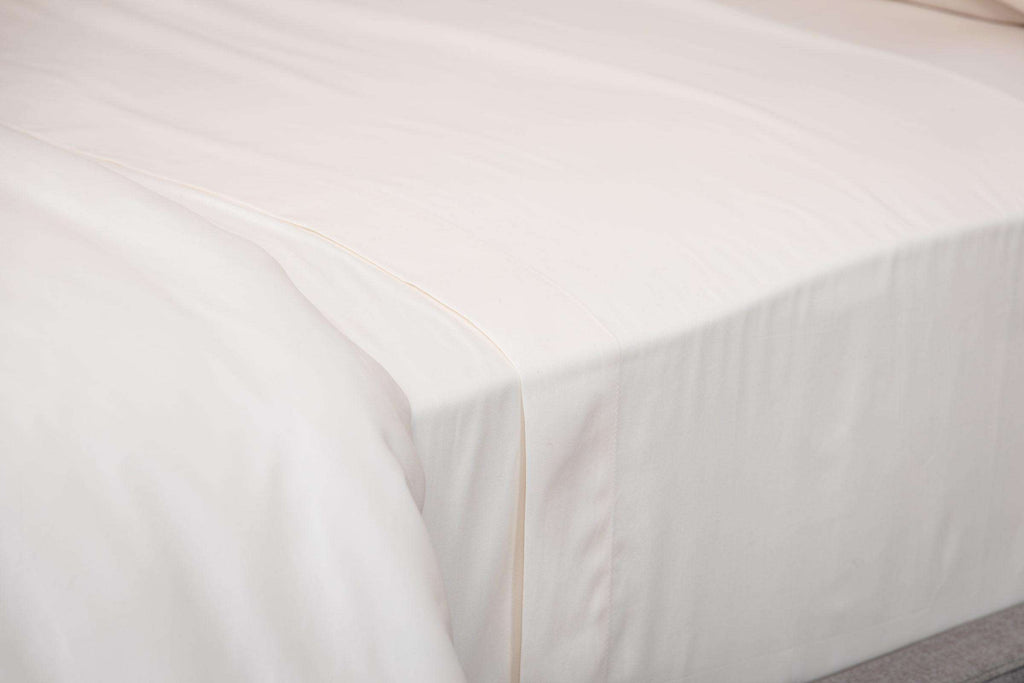 Cream Sateen Flat Sheet