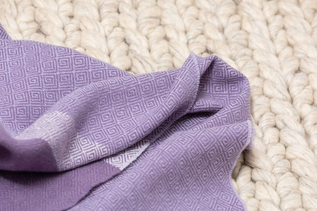 Heather & Purple Giant Colour Block Lambswool