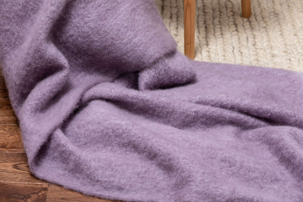 Heather & Purple Melange Mohair