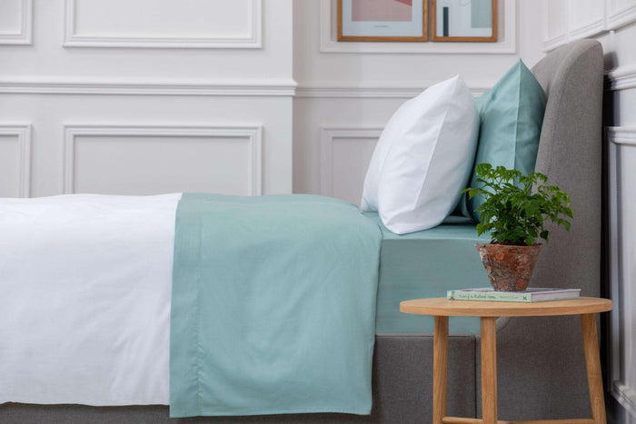 Aqua Sateen Flat Sheet