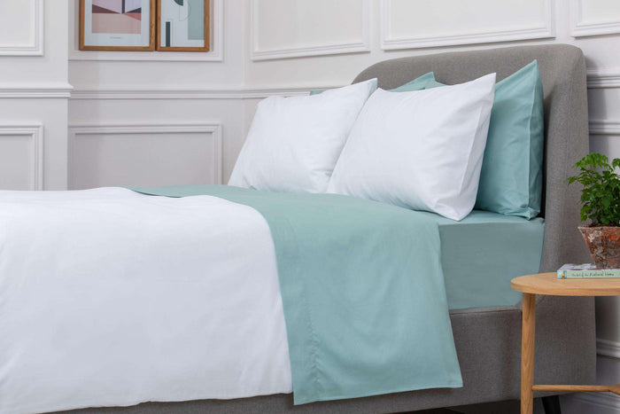 Aqua Sateen Fitted Sheet