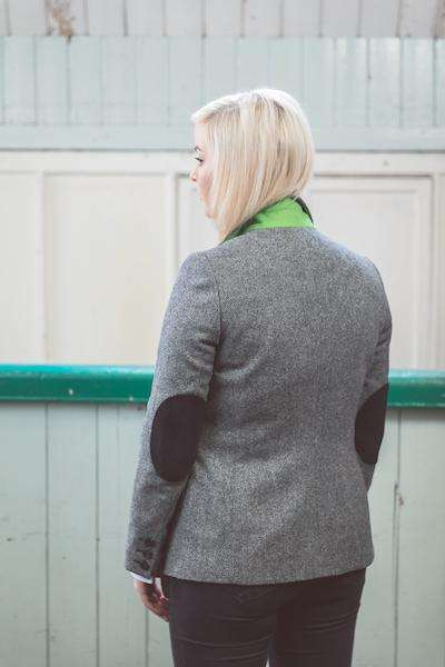 Ladies Black & White Tweed Jacket