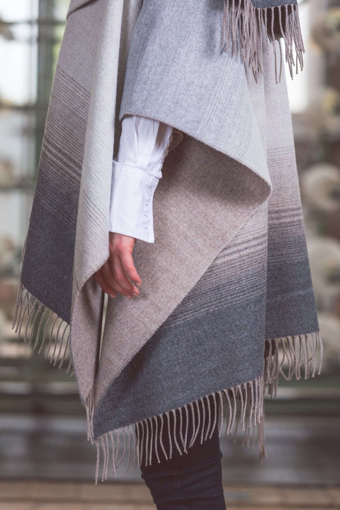 Bone and Grey Gradient Serape