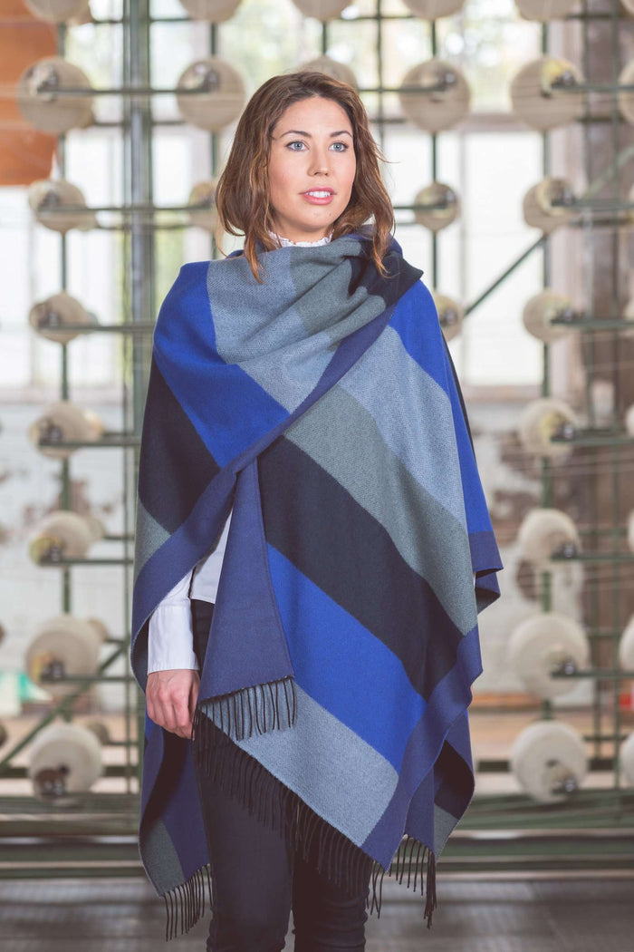 Blue Tone Fringed Serape