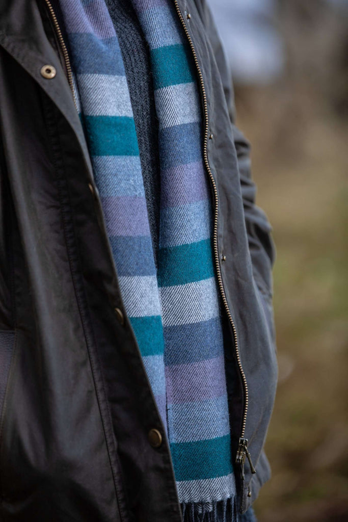 Purple Colour Stripe Scarf