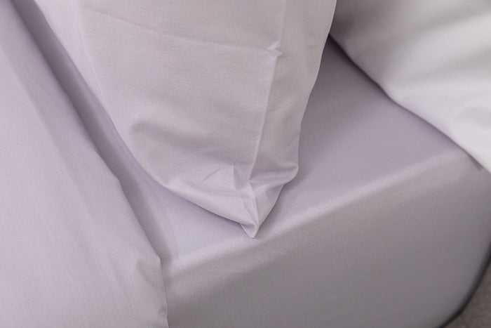 Misty Grey Plain Dye Fitted Sheet