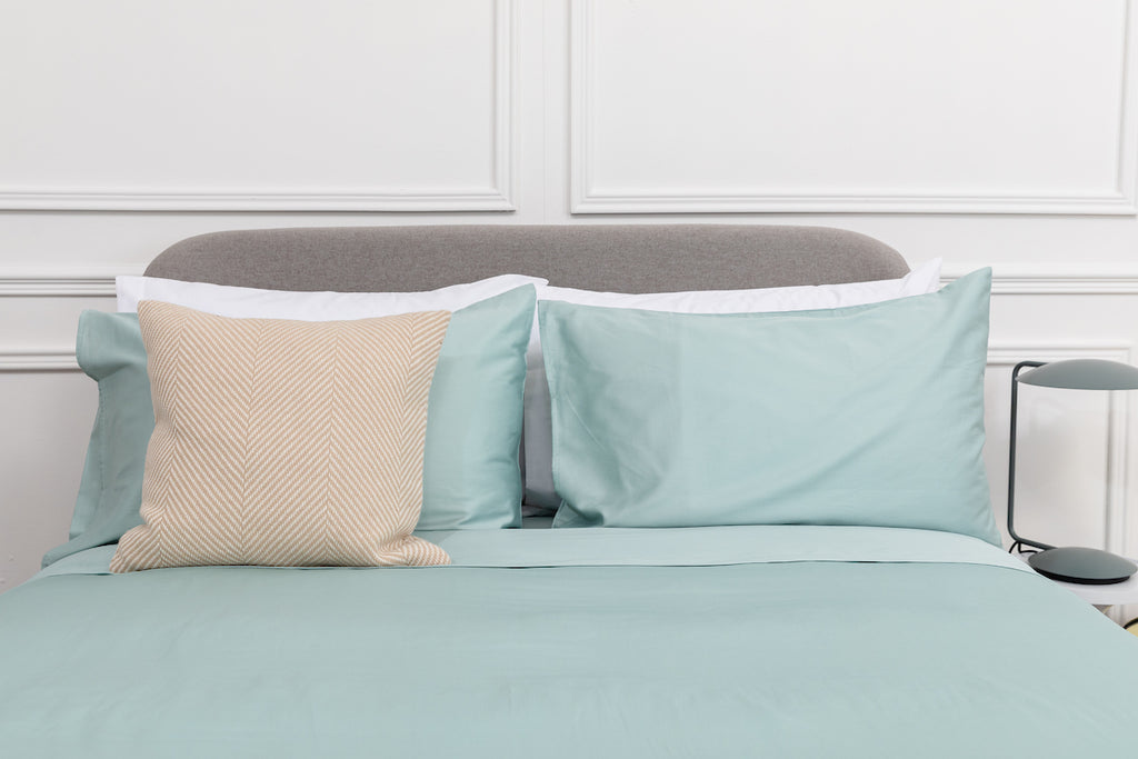 Aqua Sateen Duvet Cover