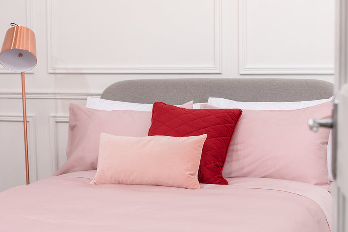 Pink Sateen Housewife Pillowcase - Single