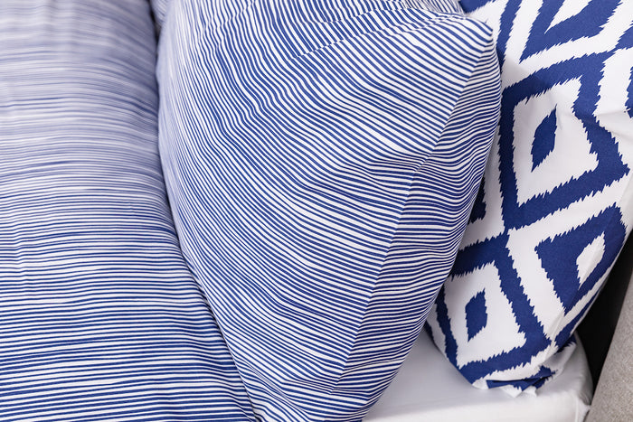Random Stripe Housewife Pillowcase - Pair