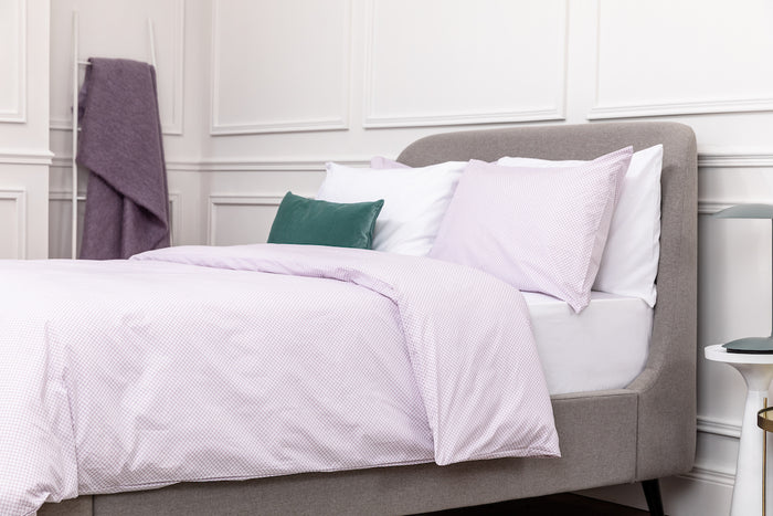 Lilac Geometric Oxford  Pillowcase - Pair