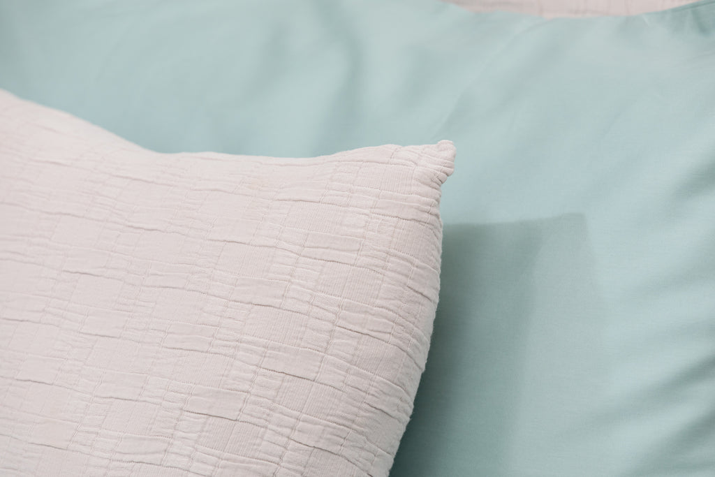 Set of Neutral Cushion Cover and Bedspread