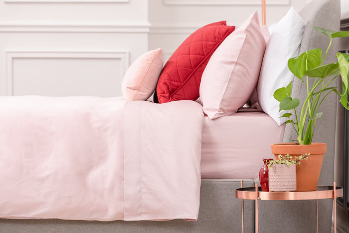 Pink Sateen Duvet Cover