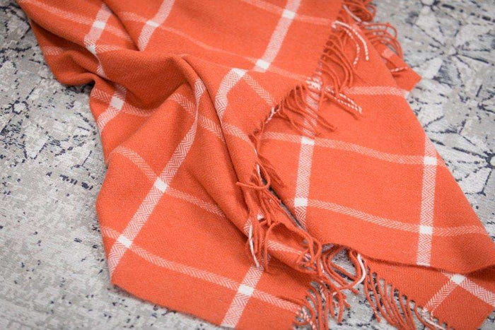 Orange and White Windowpane