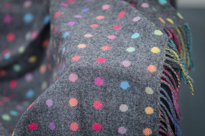 Grey Multi Spot Throw