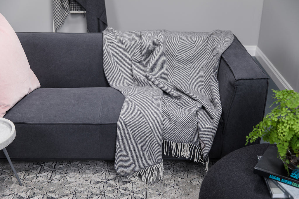 Oxford Herringbone Throw